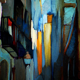 .architectural abstract painting, painting, illustration