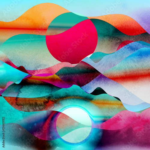 Obraz Abstract watercolor background