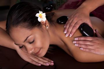 Asian woman.Spa treatment and massage