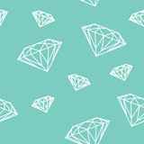Sfondo continuo di diamanti sullo sfondo blu tiffany - 134627174