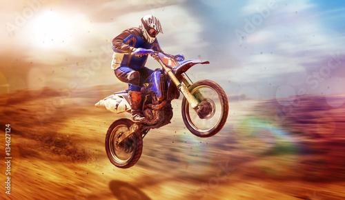 motocross,-sport-motorowy,-skoki-freestyle,-plakat