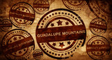 Guadelupe mountains, vintage stamp on paper background