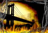 Bridge in fire