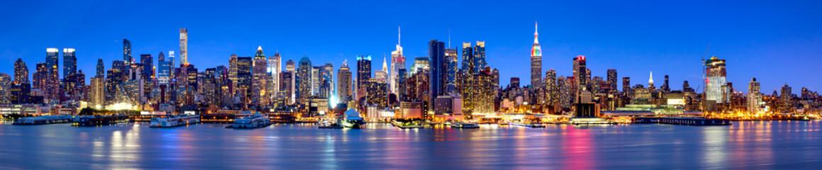 Fototapeta panorama Nowy Jork nocą na wymiar