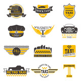 Taxi badge vector illustration.