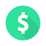 Dollar sign flat icon vector - 134675192