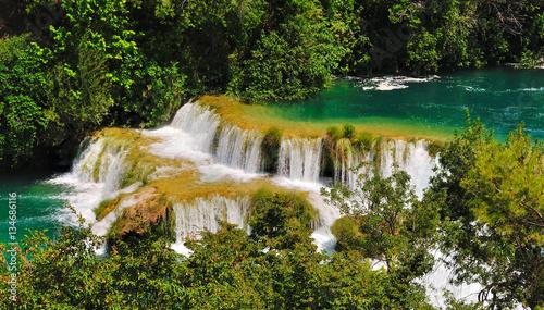Wodospady w parku Krka