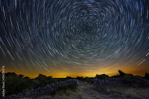 Star trails from Cres island, Croatia.