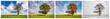 Vier Jahreszeiten - Collage