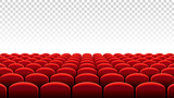 Vector Cinema or Theater rows of red seats - 134709768