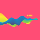 3D Wavy Background. Dynamic Effect. Design Template.