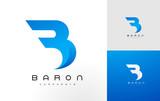 B Logo Blue. B Letter Icon Design Vector - 134720347