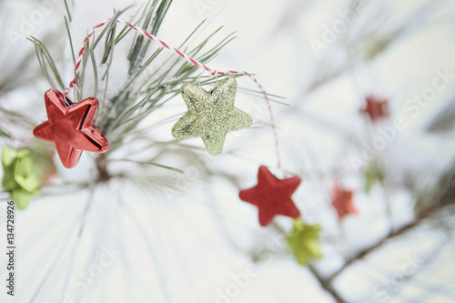 Poster Star garland on a Christmas tree