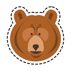 bear cartoon icon over white background. colorful design. vector illustration