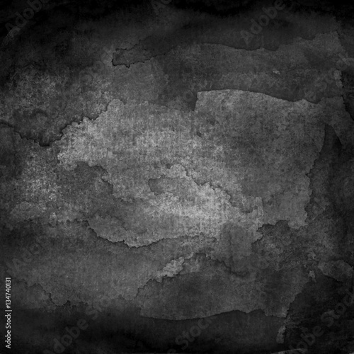 Black watercolor macro texture background - 134740131