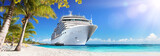 Cruise To Caribbean With Palm Trees - Tropical Beach Holiday  - 134747342