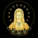 Praying Virgin Mary - 134768521