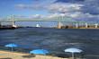 Porto di Montreal, fiume San lorenzo, Canada