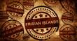 Frisian islands, vintage stamp on paper background