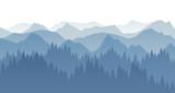 Wald Landschaft Silhouette Wall Sticker