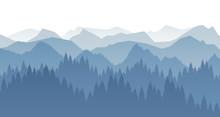 Wald Landschaft Silhouette Sticker