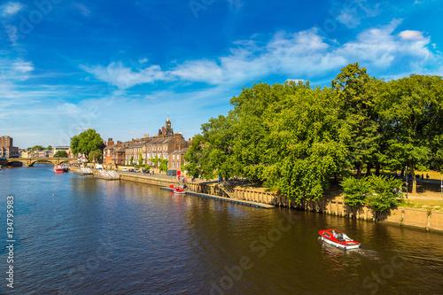 Plexiglas Schip River Ouse in York, England, United Kingdom