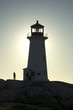 Sundown, Lighthouse at Peggys Cove, Nova Scotia, Canada