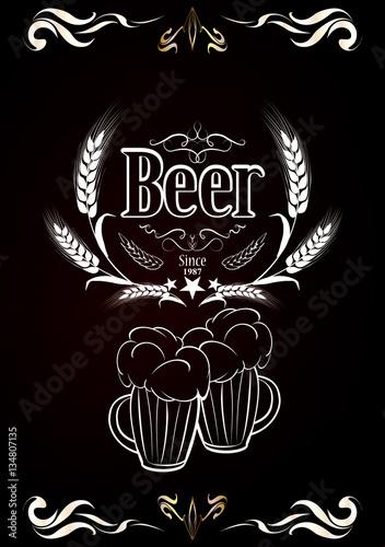 beer vintage design in chalk © vworks
