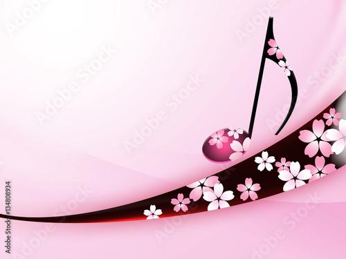 音楽 桜 和柄