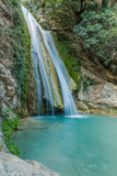 Neda Waterfalls among the rocks and forest, Greece