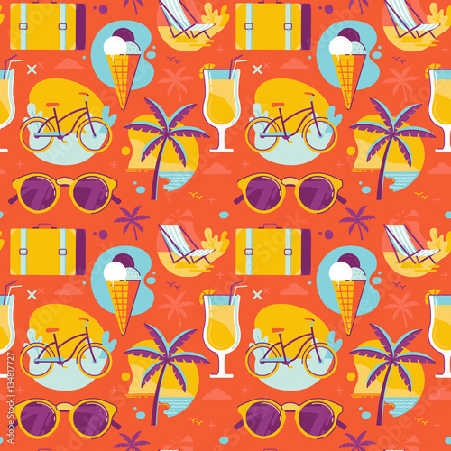 Cotton fabric Summer pattern