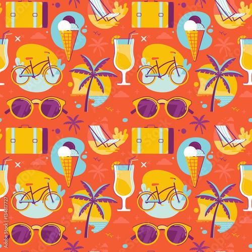 Cotton fabric Summer pattern