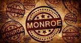 monroe, vintage stamp on paper background