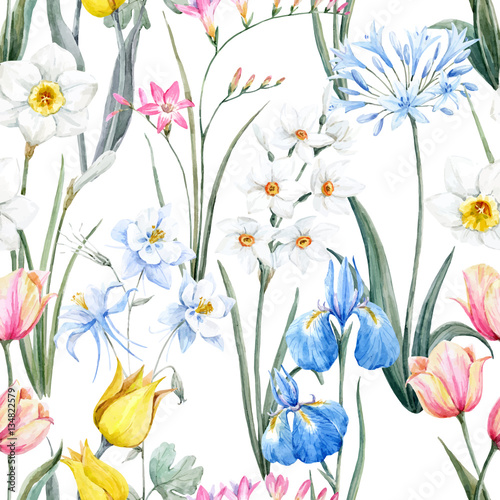 watercolor-vector-floral-pattern