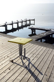 Coffee table on annecy lake
