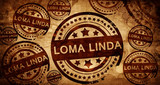 loma linda, vintage stamp on paper background