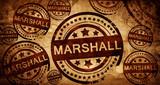marshall, vintage stamp on paper background