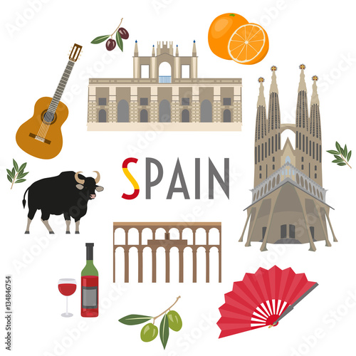 Sticker Spain travel and culture