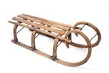 Vintage wooden sled - 134854564