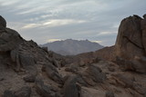 Fantastic Mountain and Rocks In Sahara Desert in North Africa Like a Mars Landscape or Panorama of Other World