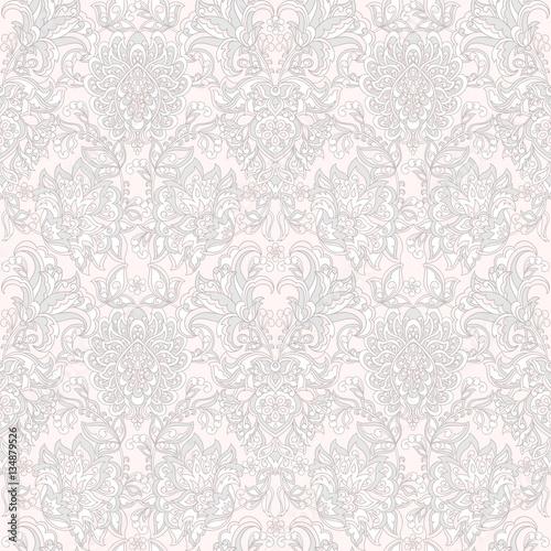 Damask Seamless Pattern. Floral vintage wallpaper