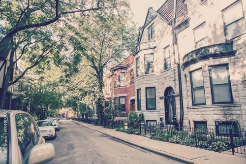 Chicago rowhouse neighborhood Poster