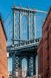 Famous view at Manhattan Bridge from Brooklyn