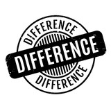 Difference rubber stamp. Grunge design with dust scratches. Effects can be easily removed for a clean, crisp look. Color is easily changed.