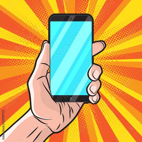 Poster Pop Art Smartphone in Hand