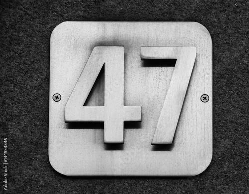 Poster Hausnummer 47