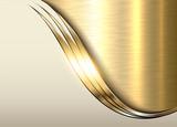 Gold metal background, shiny metallic elegant business background - 134955553