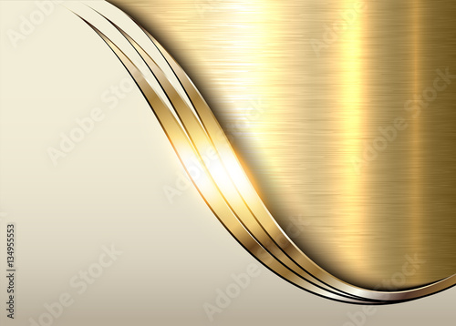 Gold metal background, shiny metallic elegant business background