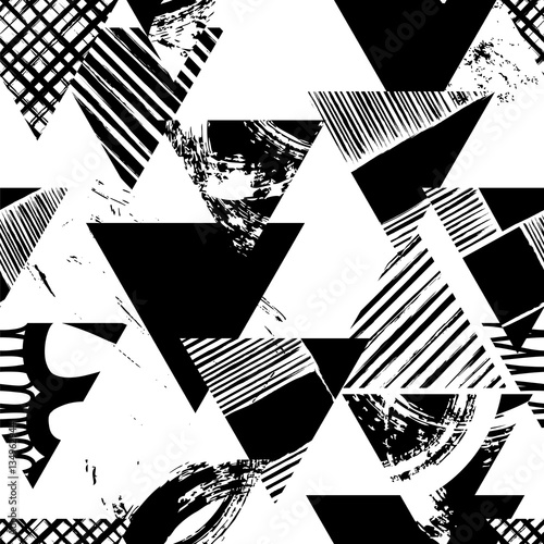 abstract geometric background pattern, with triangles, paint str