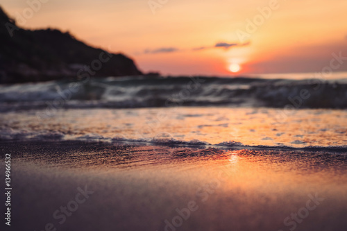 Foto op Canvas Zee zonsondergang Colorful sunset on Koh Phangan island in Thailand